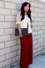 Ivory-crochet-urban-outfitters-sweater-dark-brown-clutch-forever21-purse
