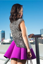 purple neoprene purple choiescom skirt - black Gucci bag