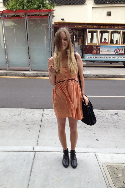 Blessed Are The Meek dress - vintage boots - Alexander Wang bag