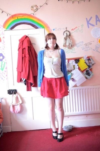 top - Topshop skirt - asos shoes