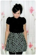 black H&M shirt - black H&M skirt