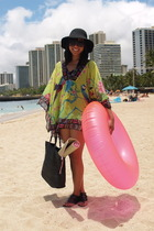 matthew williamson x h&m top - Target shoes - random hat - H&M purse - tube from