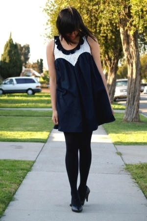 black Target tights - Dear Creatures dress