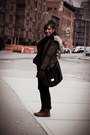 Brown-zara-boots-black-zara-jeans-army-green-zara-jacket
