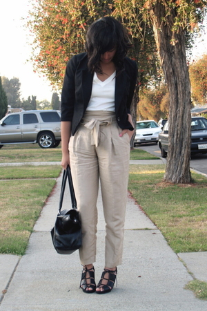 UO blazer - f21 shirt - Zara pants - H&M shoes