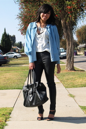 black Target shoes - blue H&M shirt - black H&M purse
