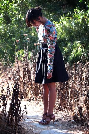 H&M blouse - vintage skirt - H&M shoes