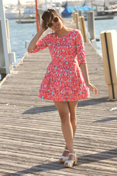 white h&m x swedish hasbeens shoes - hot pink H&M dress