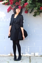 Urban Outfitters blazer - H&M dress - Dance Tights stockings - Seychelles via Ur