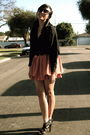 Black-h-m-blouse-orange-h-m-skirt-black-old-navy-belt-black-target-shoes