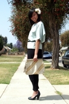 vintage top - vintage belt - H&M pants - seychelles shoes