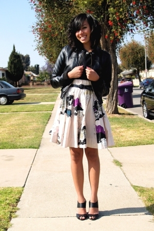 H&M jacket - vintage blouse - H&M skirt - Target shoes