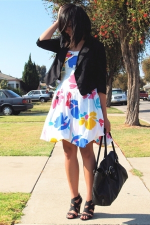 Urban Outfitters blazer - vintage dress - Target shoes - H&amp;M purse