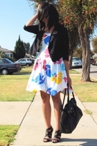 Urban Outfitters blazer - vintage dress - Target shoes - H&M purse
