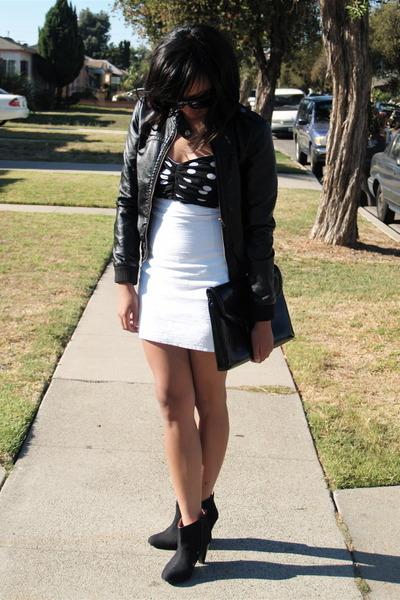 h&m divided jacket - nasty gal vintage dress - UO shoes - H&M purse