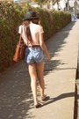 Straw-boater-thrifted-hat-levis-shorts-swapped-from-friend-top-gladiators-