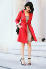 Gold-scala-dress-red-banana-republic-coat-brown-leopard-kurt-geiger-bag