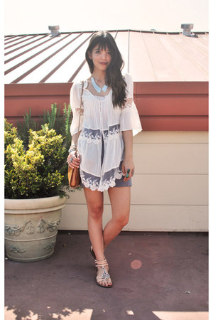ivory lace Akira dress - tawny candis Hobo The Original bag