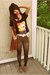 black rad Biluxi shirt - tawny fringe H&M bag