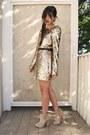 Tan-ames-suede-asos-boots-gold-disco-pony-dress