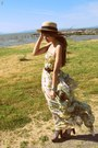Dittany-supertrash-dress-boater-thrifted-hat-thrifted-belt-jeffrey-campbel