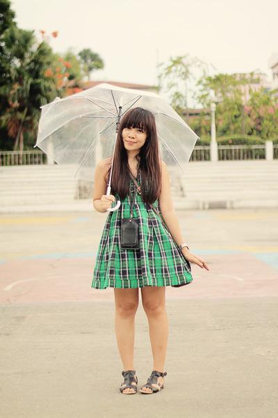 green plaid Wet Seal dress
