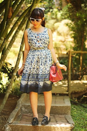 floral Ms Collection dress - bag