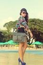 Cole-vintage-bag-scarf-print-vintage-blouse-payless-heels