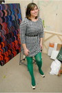 Black-houndstooth-h-m-dress-green-american-apparel-tights