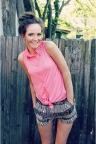 sleeveless kohls top - H&M shorts