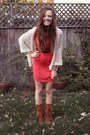 Red-riffraff-dress-brown-fringe-moccasin-minnetonka-boots