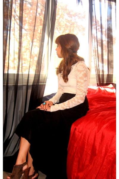 f21 blouse - Target heels