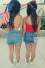 White-vans-shoes-american-flag-levis-shorts
