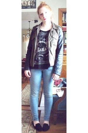 American Eagle jacket - American Eagle jeans - brandy melville shirt