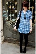 Zara shirt - Zara accessories - H&M tights - Vans accessories