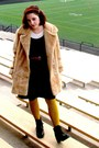 Black-lace-up-booties-the-arc-boots-camel-goodwill-coat