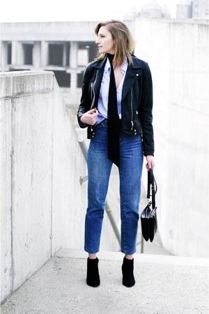 vintage jeans - Zara jacket