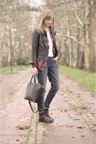 Zara jacket - New Yorker shirt - Zara bag