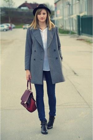 Zara coat - asos jeans - H&M hat