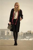 Topshop coat - Zara bag - Zara pants