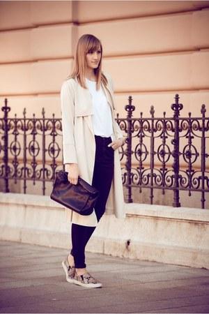 Zara bag - slip on H&M sneakers
