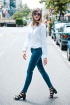 Zara shirt - Topshop heels
