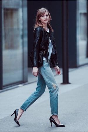 boyfriend jeans H&M jeans - Zara jacket - 31 Phillip Lim bag