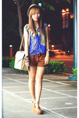 bought online wedges - Forever 21 shorts - HappyBoon top