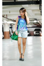 Green-happyboon-bag-white-from-bazaar-shorts-heather-gray-espanolas-wedges
