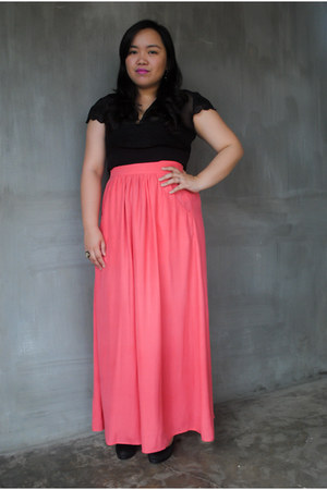 salmon maxi Witchery skirt