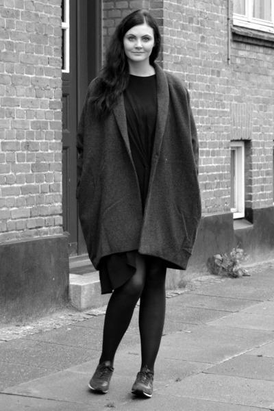 wool weekday jacket - rika dress - New Balance sneakers