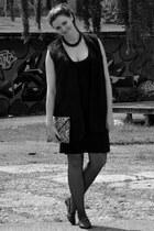 H&M dress - H&M purse - Topshop loafers - H&M Trend vest - DIY necklace