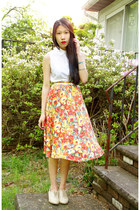 vintage skirt - Forever 21 shoes - Ralph Lauren top