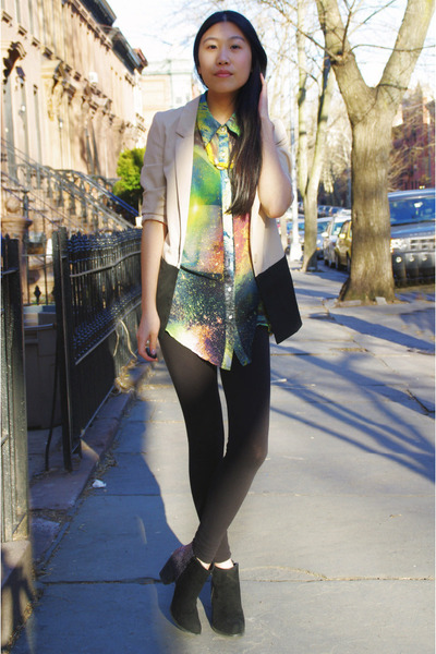 Solilor blouse - DSW boots - H&M blazer